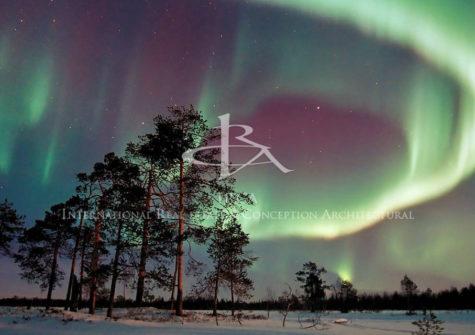 Structure touristique en Laponie Finlandaise…